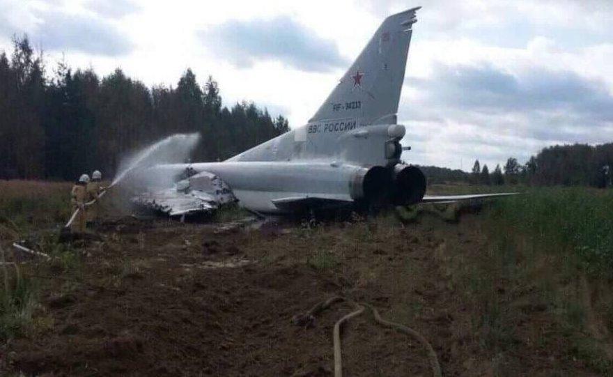 Rusų bombonešis nusileidęs nuriedėjo nuo tako karinių oro pajėgų bazėje