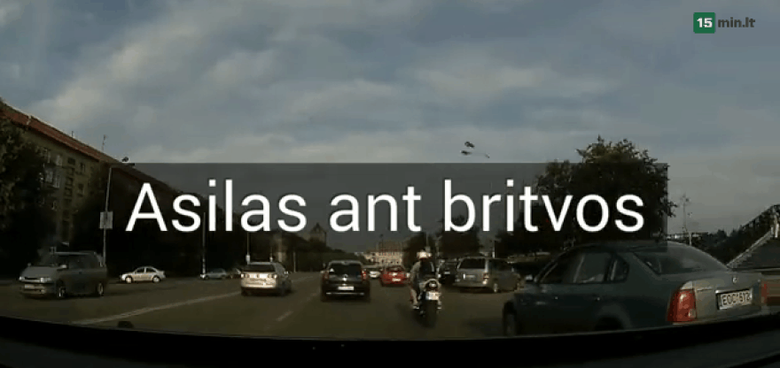 Motociklo vairuotojo išpuolis