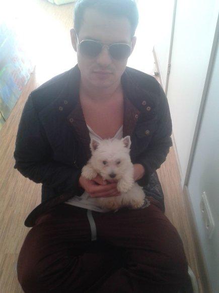 Algimantas Minalga-Soliaris ir šuo