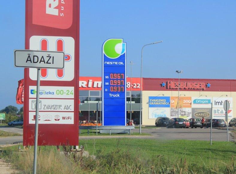 Degalų kainos Latvijoje