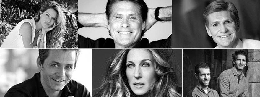 """Kanų Liūtų"" pranešėjai: Gisele Bündchen, Davidas Hasselhoffas, Marc Pritchard, Davidas Benioffas ir D.B. Weiss, Sarah Jessica Parker, Ericas Hirhbergas"