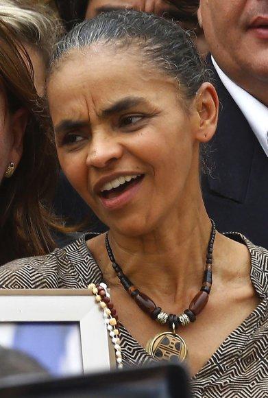 Kandidatė į Brazilijos prezidento postą Marina Silva