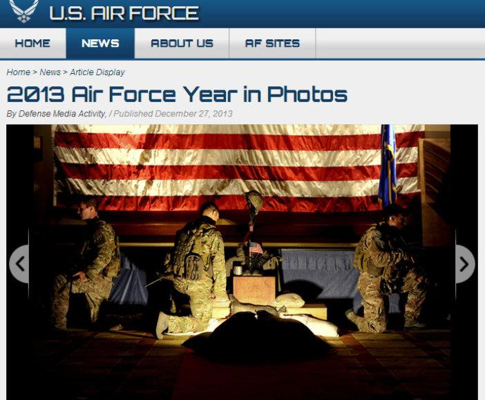 JAV karinės oro pajėgos atrinko geriausias metų nuotraukas