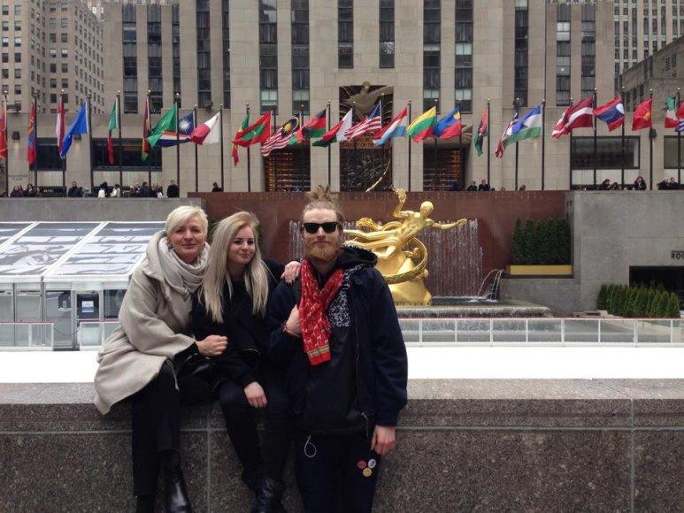 Aušra Haglund su šeima Niujorke