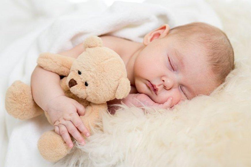 Miegantis mažylis