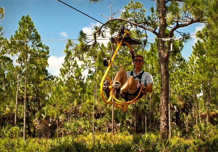 Dviračiais virš Floridos gamtos parko
