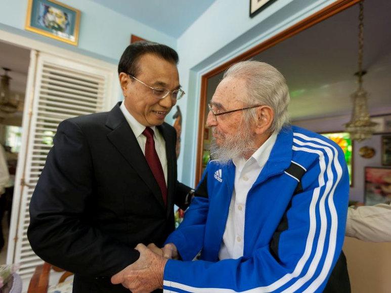 Fidelis Castro ir Li Keqiangas
