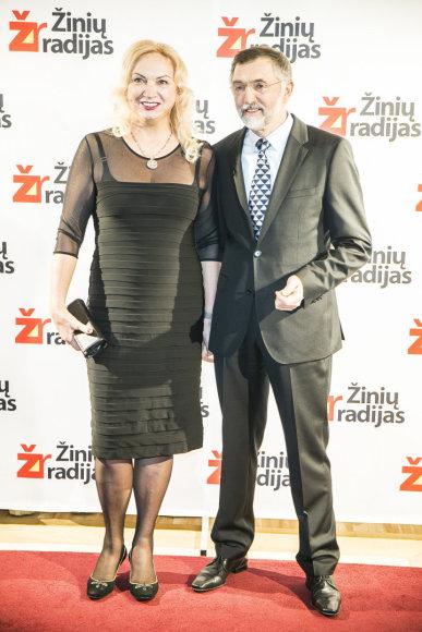 Augustinas Rakauskas su žmona