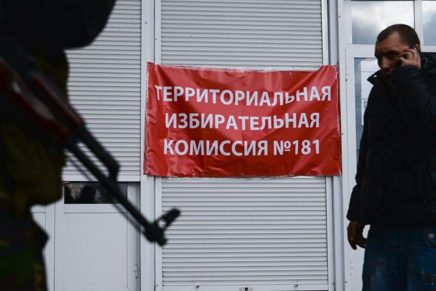 Rinkimai Donecke, Ukrainoje.