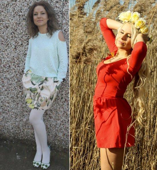"""Konkurso """"Mano pavasarinis stilius"""" nugalėtojos: Kristina (kairėje) ir Meda"""