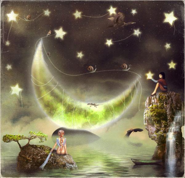 Mėnulis ir žvaigždės