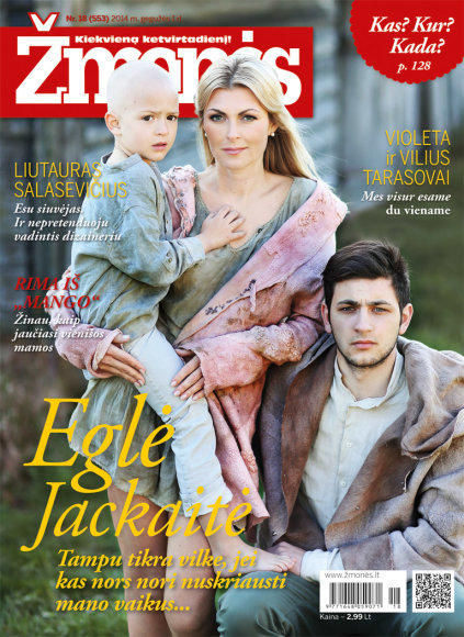 Eglė Jackaitė su vaikais Jokūbu (dešinėje) ir Elijumi