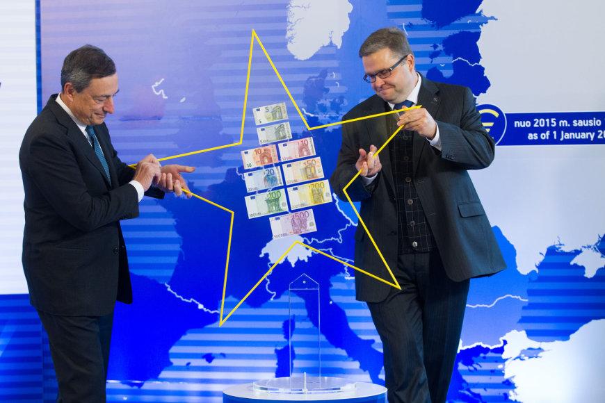 Mario Draghi ir Vitas Vasiliauskas