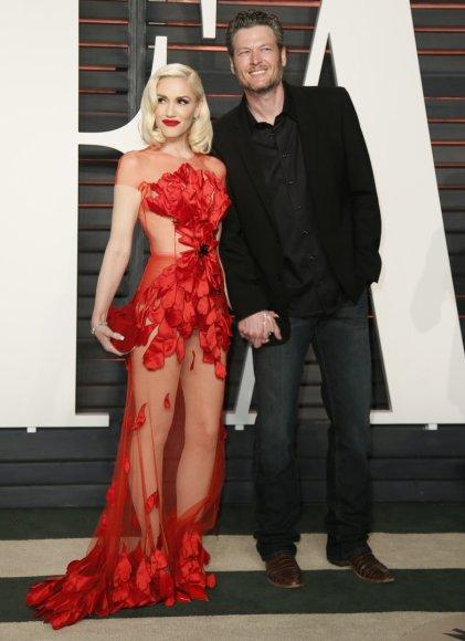 """Reuters""/""Scanpix"" nuotr./Gwen Stefani ir Blake'as Sheltonas"