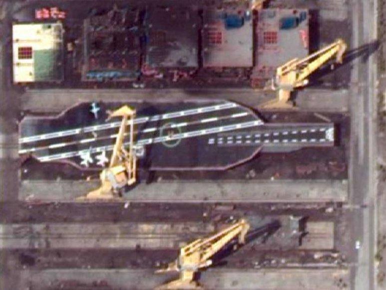 Irano statoma JAV lėktuvnešio kopija