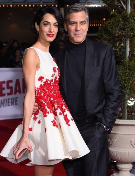 """""""Scanpix"""" nuotr./George'as ir Amal Clooney"""