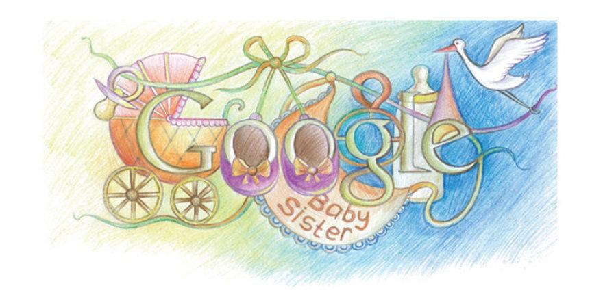 """Jono Gumbelevičiaus pieštas """"Google"""" logotipas"""