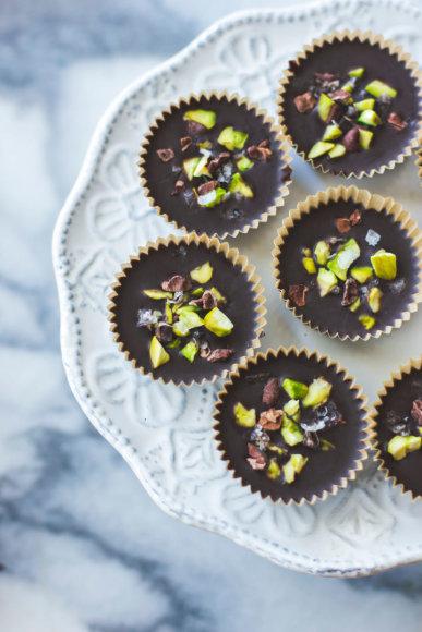 Šokolado skanėstai su pistacijų sviestu