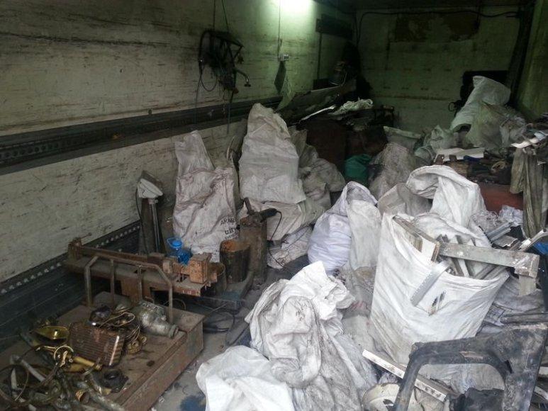 Metalo supirktuvėje rastas metalas