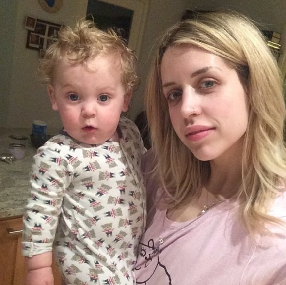 Peaches Geldof su sūnumi Phaedra