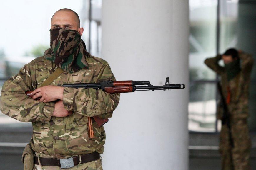 Prorusų teroristai Donecko oro uoste