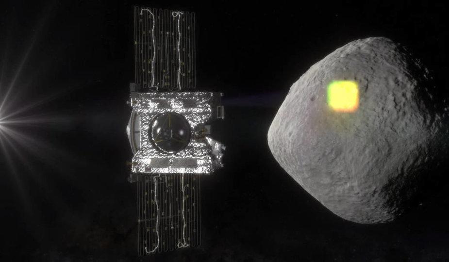 """Zondas """"OSIRIS-REx"""" tirs asteroidą Bennu"""