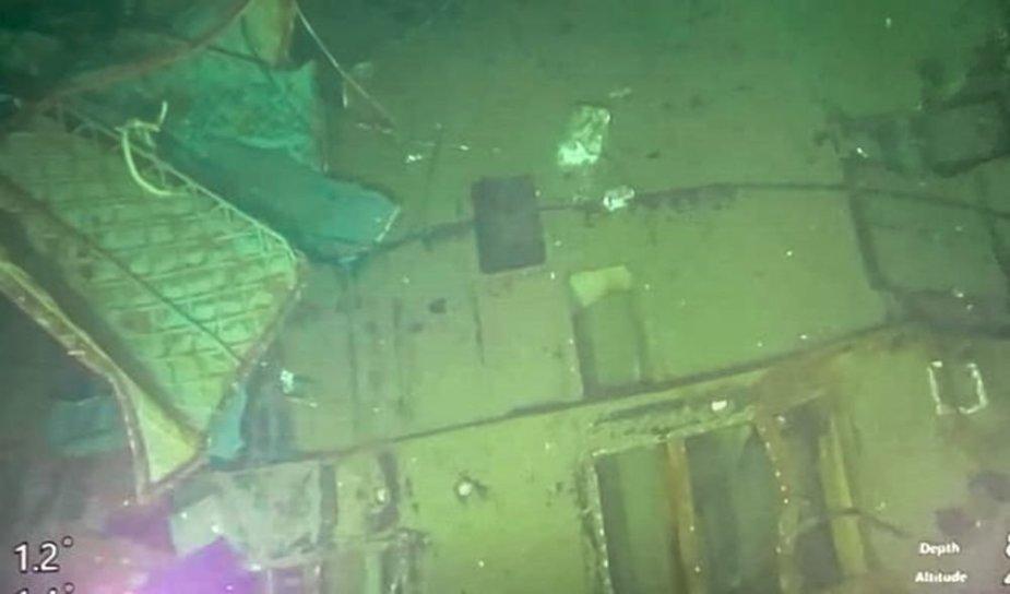 Indonezijos kariškiai išplatino povandeninio laivo nuolaužų nuotraukų.