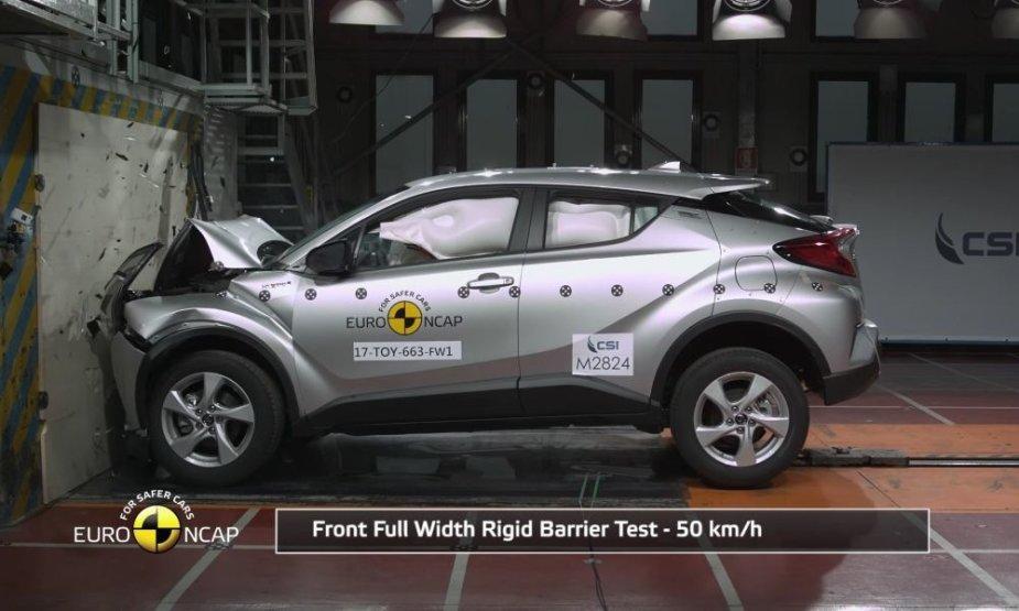 """Toyota CH-R"" Euro NCAP testas"