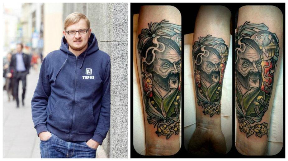 Paulius Ambrazevičius ir jo tatuiruotė