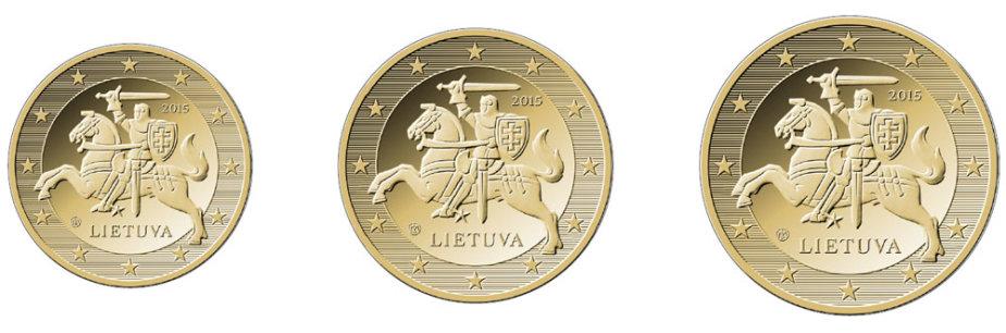 10,20,50 euro centų