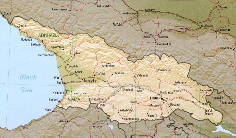 Gruzijos žemėlapis