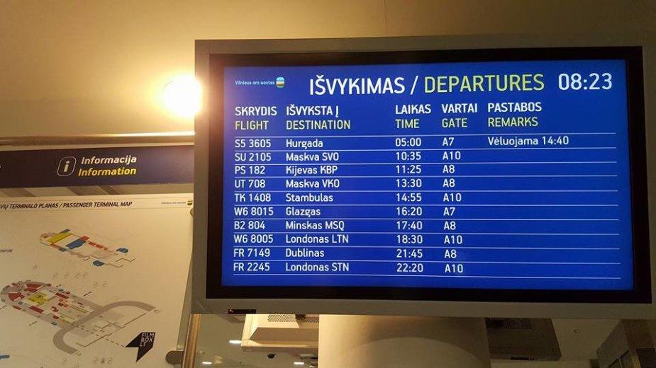 Naujas skrydžio laikas – šeštadienį 14.40 val.