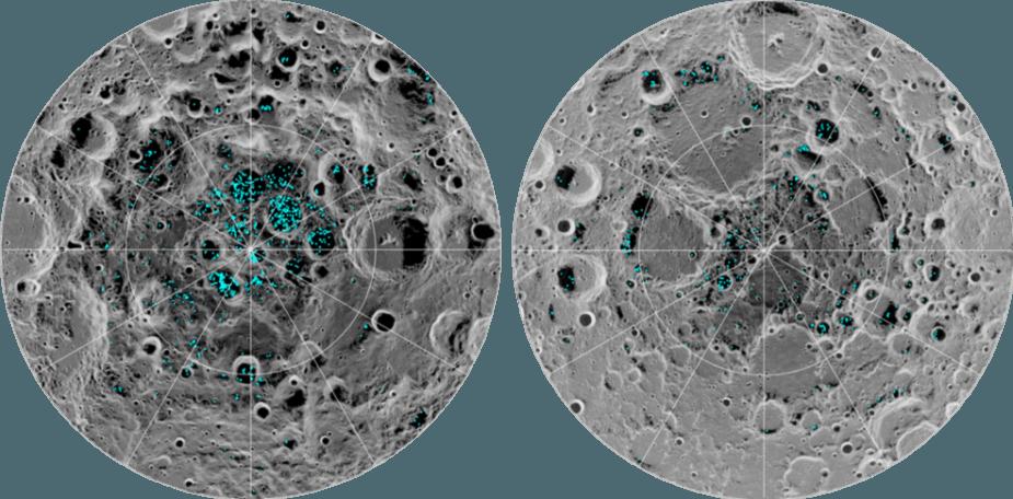 Ledas Mėnulio ašigalyje