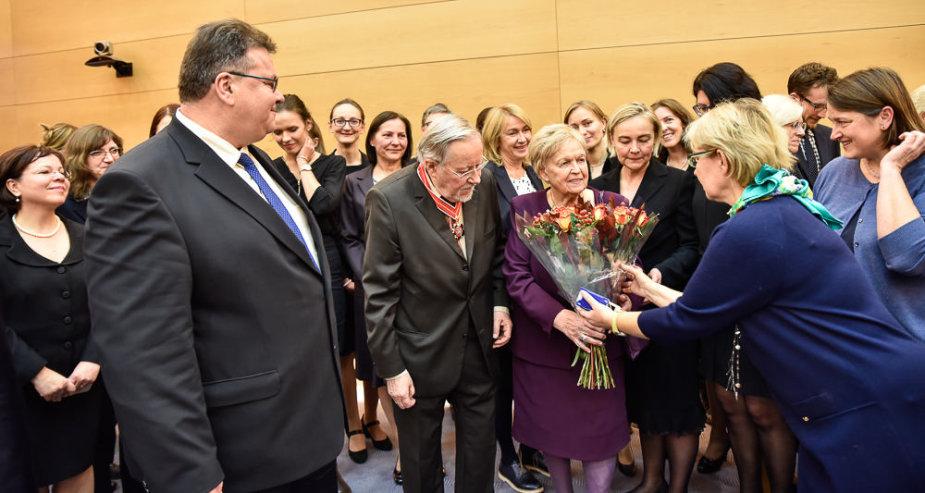 "V.Landsbergiui įteikta ""Lietuvos diplomatijos žvaigždė""."