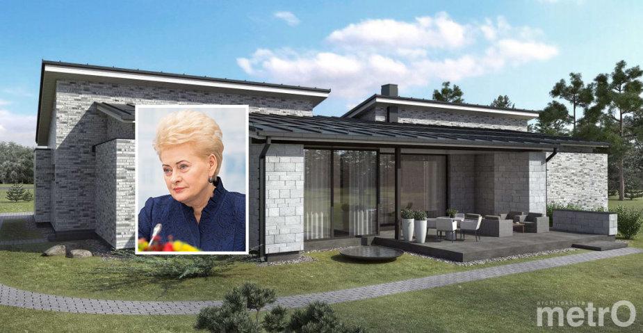 Projektuojamas Prezidentės namas Bajoruose