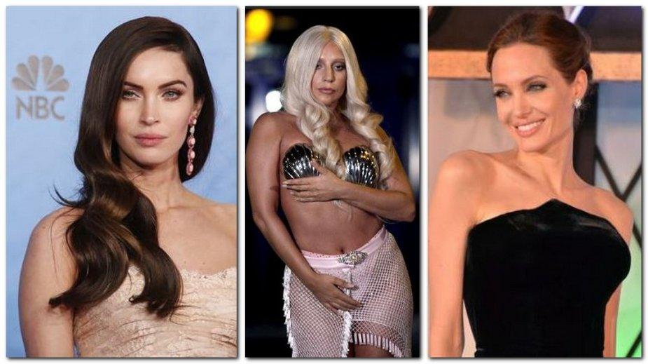 Megan Fox, Lady Gaga, Angelina Jolie