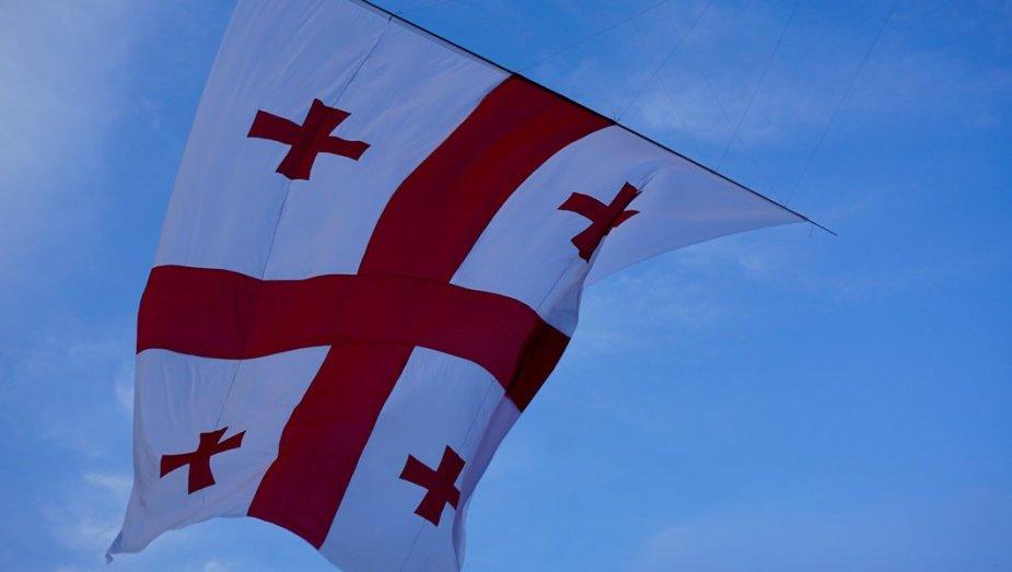Batumyje į dangų kilo Gruzijos vėliava
