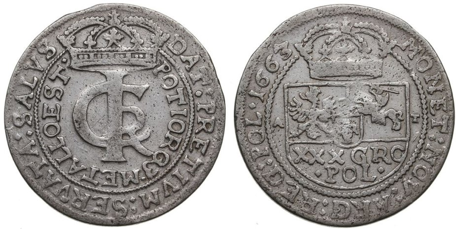 1663 m. Jono Kazimiero zlotas - tymfas