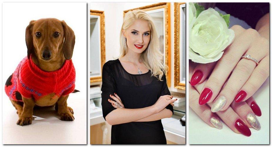 Kristina Ivanova ir jai dovanotas šuo bei sužadėtuvių žiedas