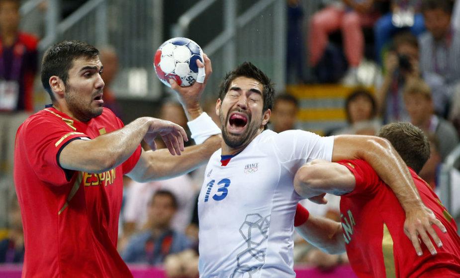 Prancūzijos rankinio rinktinė vienu įvarčiu ketvirtfinalyje eliminavo Ispaniją.