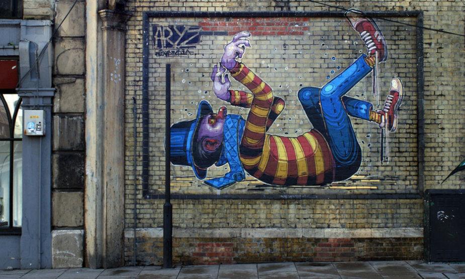 """""""Vilnius Street Art"""" dalyvausiančio Aryz darbai"""