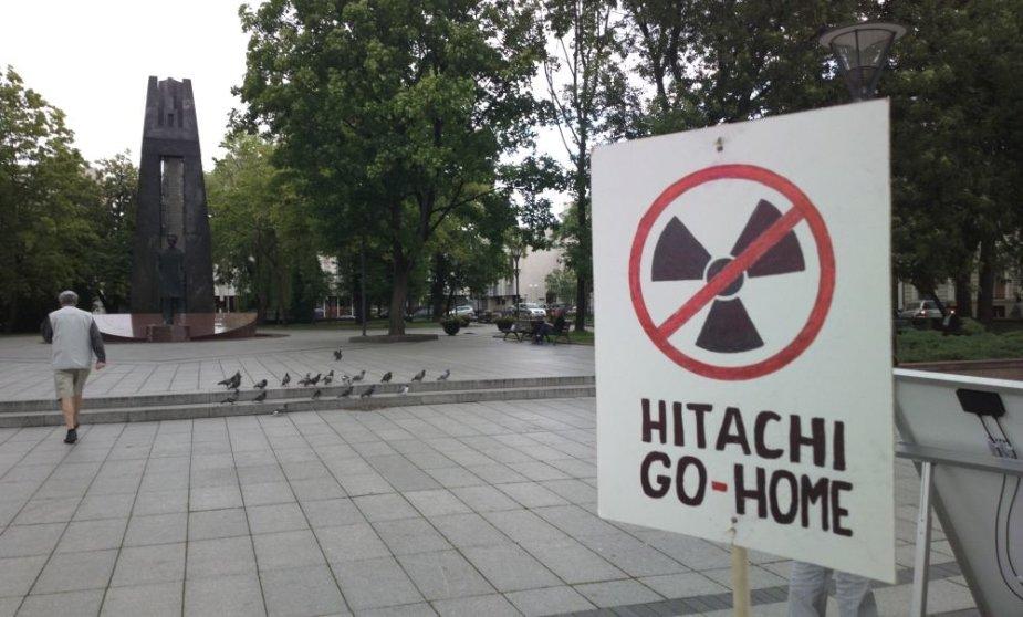 Protestas prieš atominę elektrinę