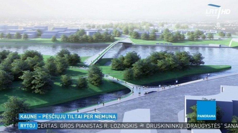Kaune pėsčiųjų tiltų per Nemuną konkursą laimėjo neįprastas projektas.