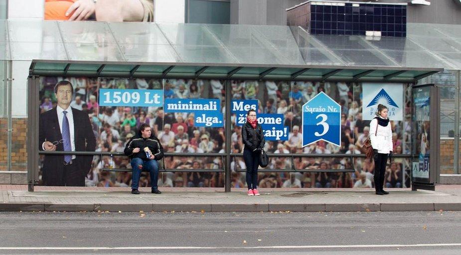 Politinė reklama Vilniuje rinkimų dieną