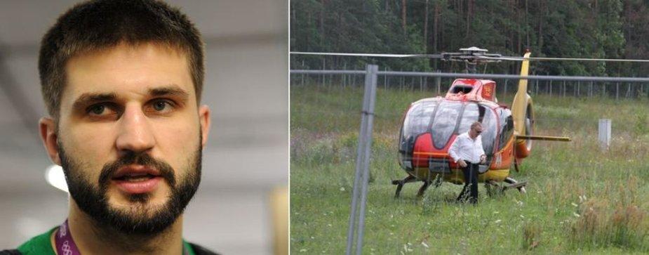 Linas Kleiza ir Tautvydo Barščio sraigtasparnis