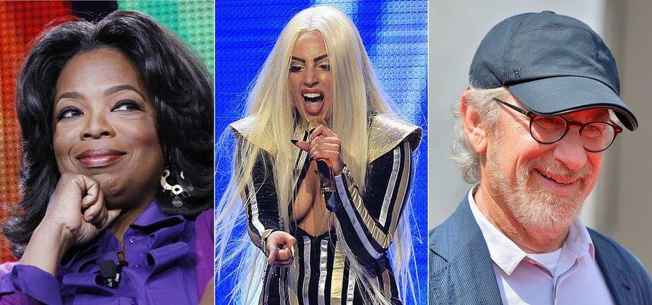 Oprah Winfrey, Lady Gaga, Stevenas Spielbergas