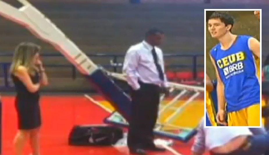 Davidas Meira mirė dėl sužalojimų, patirtų ant jo užvirtus krepšinio lentai.