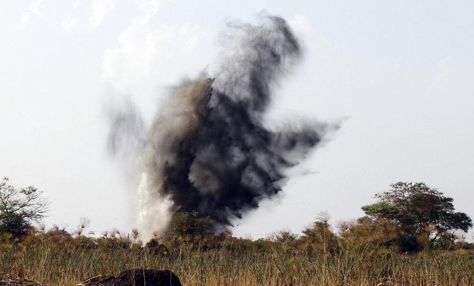 Bombos sprogimas