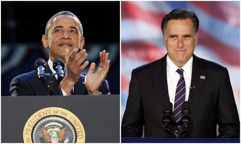 JAV prezidentas Barackas Obama ir Mittas Romney
