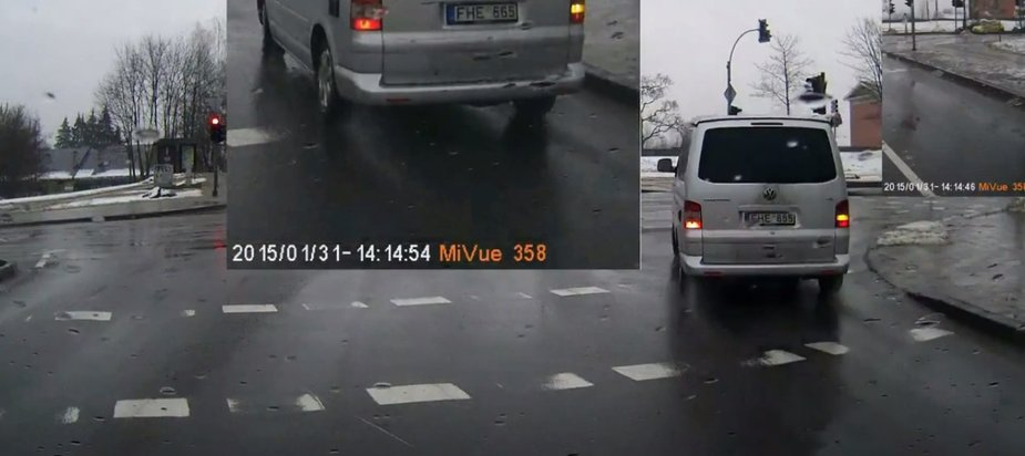 """""""VW Transporter"""" važiuoja per raudoną"""